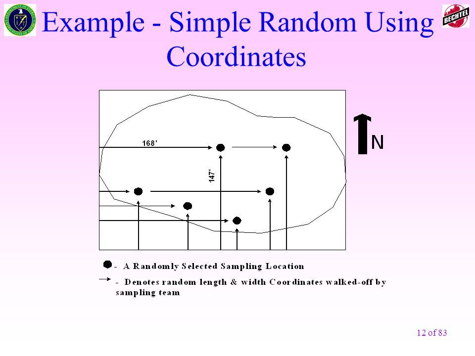 Example - Simple Random Using Coordinates