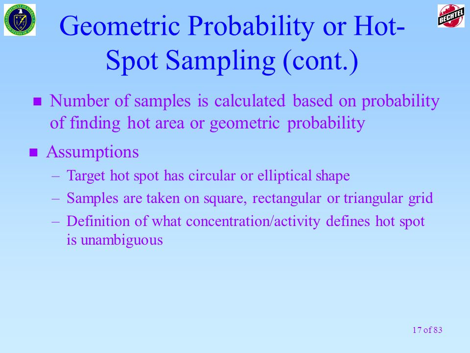 Geometric Probability or Hot-Spot Sampling (cont.)