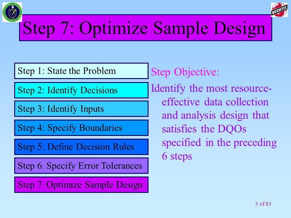 Step 7: Optimize Sample Design