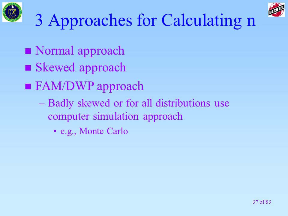 3 Approaches for Calculating n