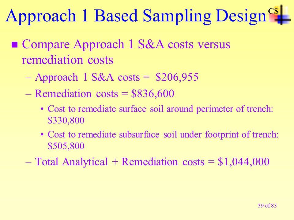 Approach 1 Based Sampling Design