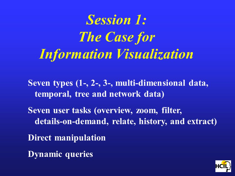 Session 1: The Case for Information Visualization