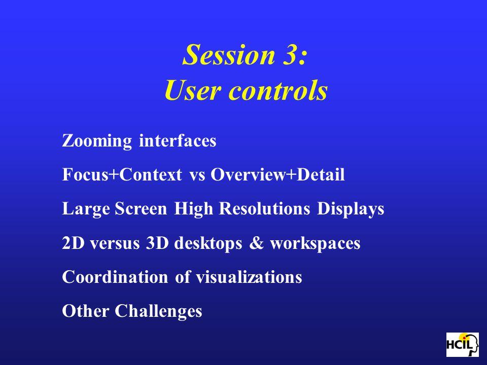Session 3: User controls
