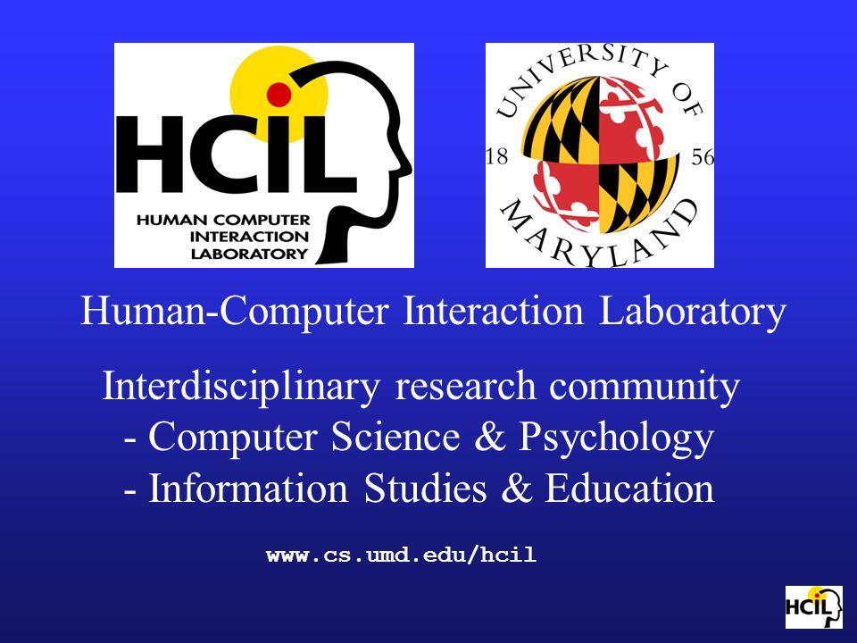 Human-Computer Interaction Laboratory