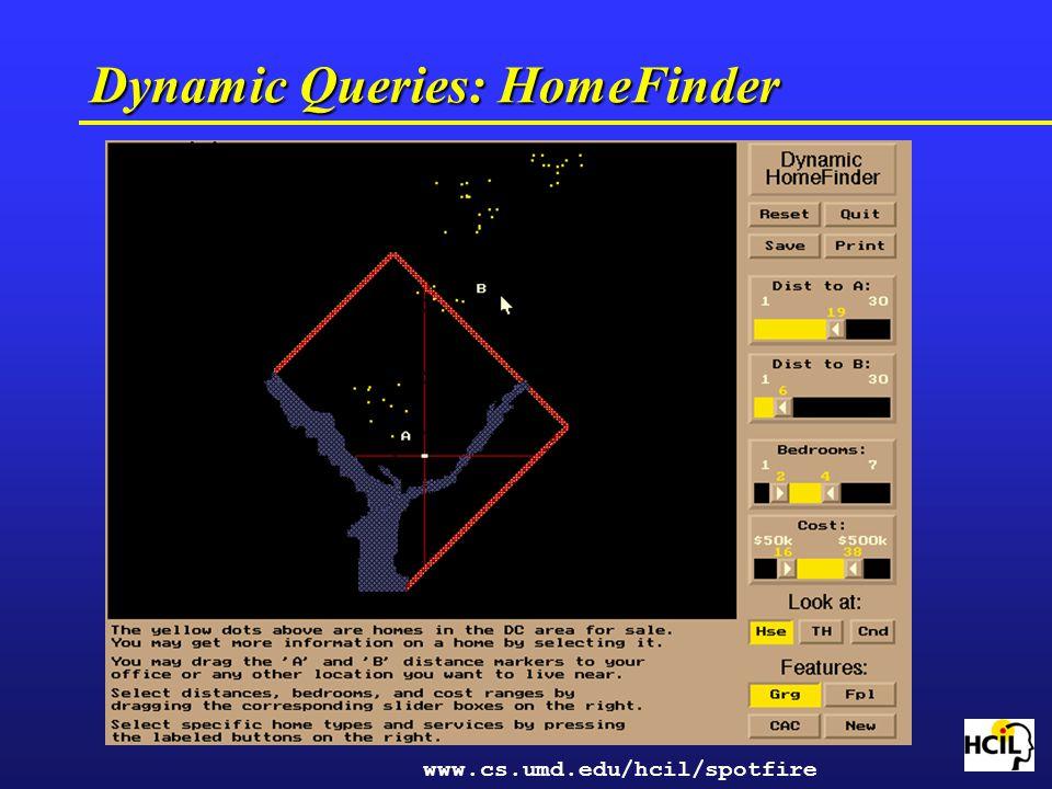Dynamic Queries: HomeFinder
