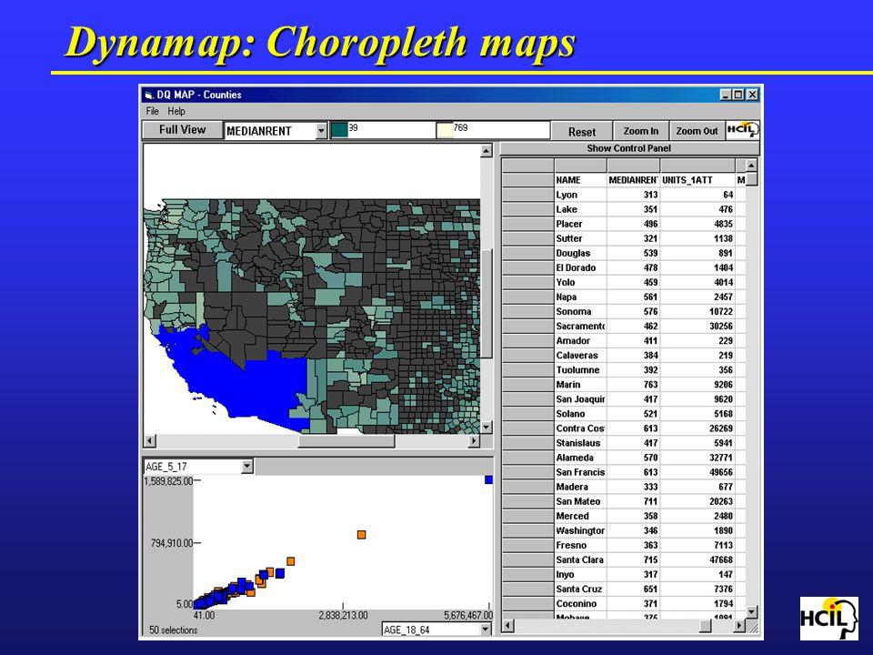 Dynamap: Choropleth maps