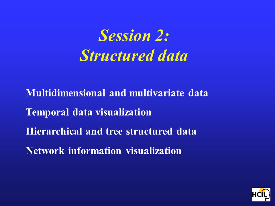 Session 2: Structured data