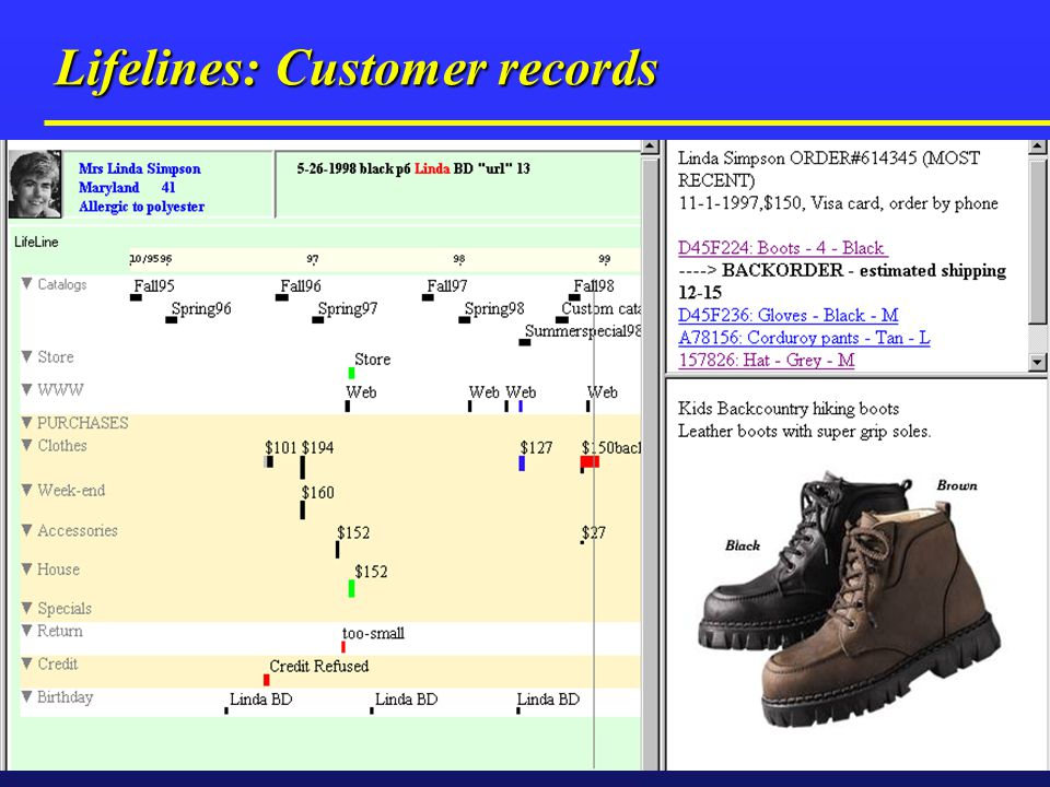 Lifelines: Customer records