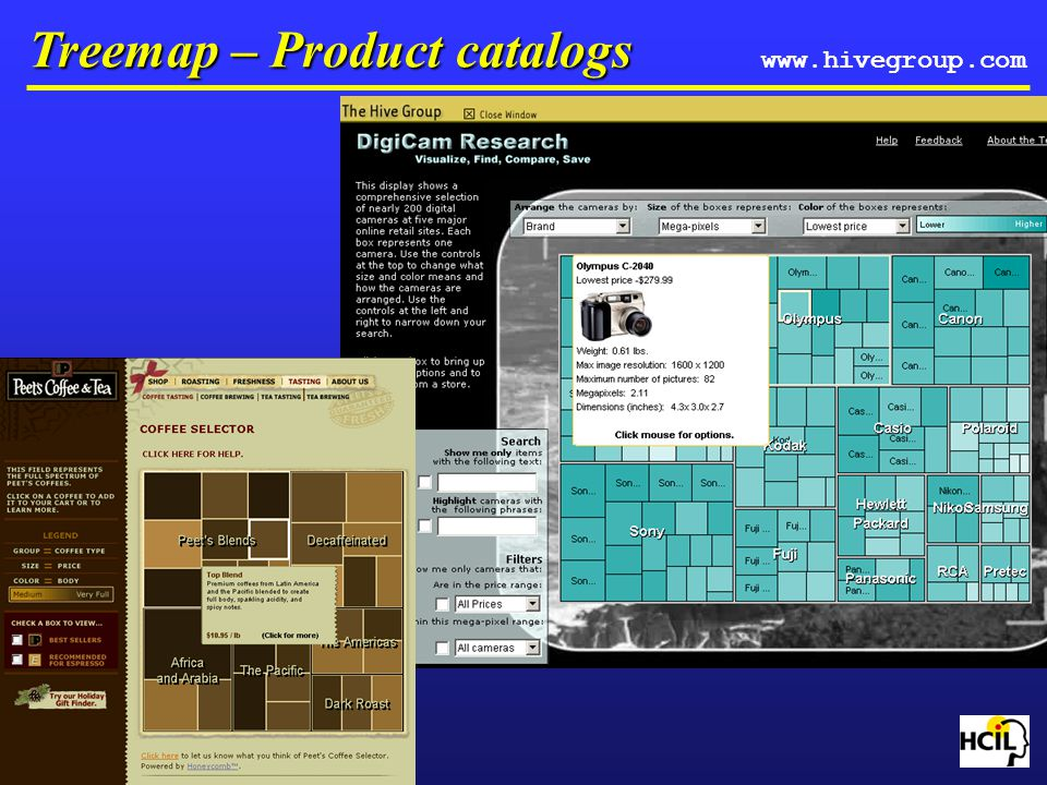 Treemap – Product catalogs