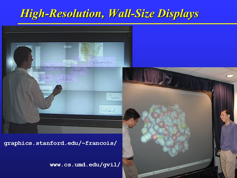 High-Resolution, Wall-Size Displays