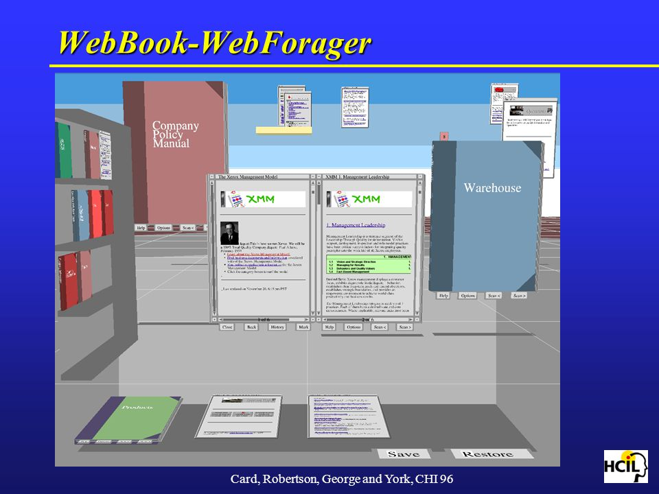 WebBook-WebForager Card, Robertson, George and York, CHI 96