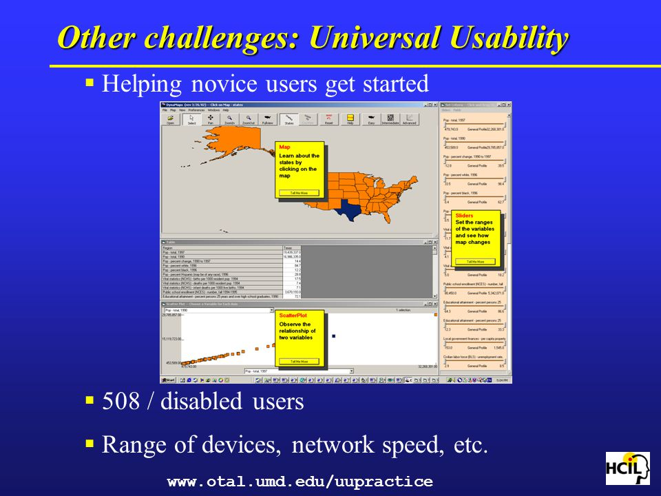 Other challenges: Universal Usability