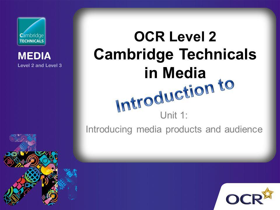 OCR Level 2 Cambridge Technicals in Media
