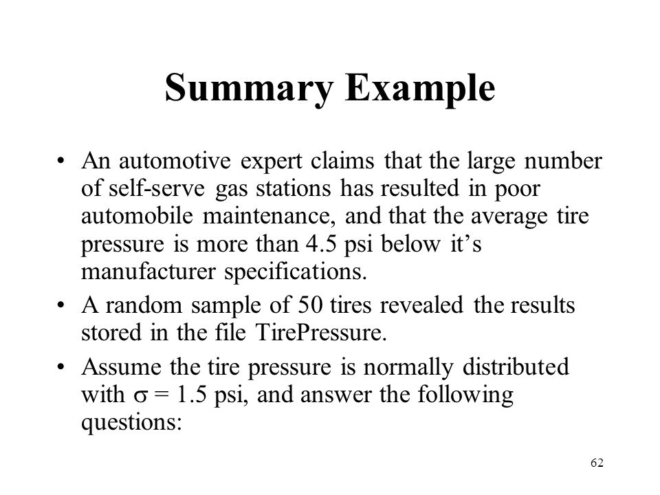 Summary Example