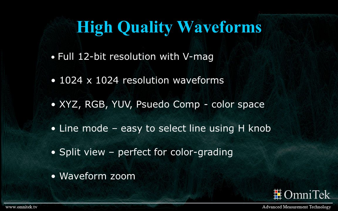 High Quality Waveforms