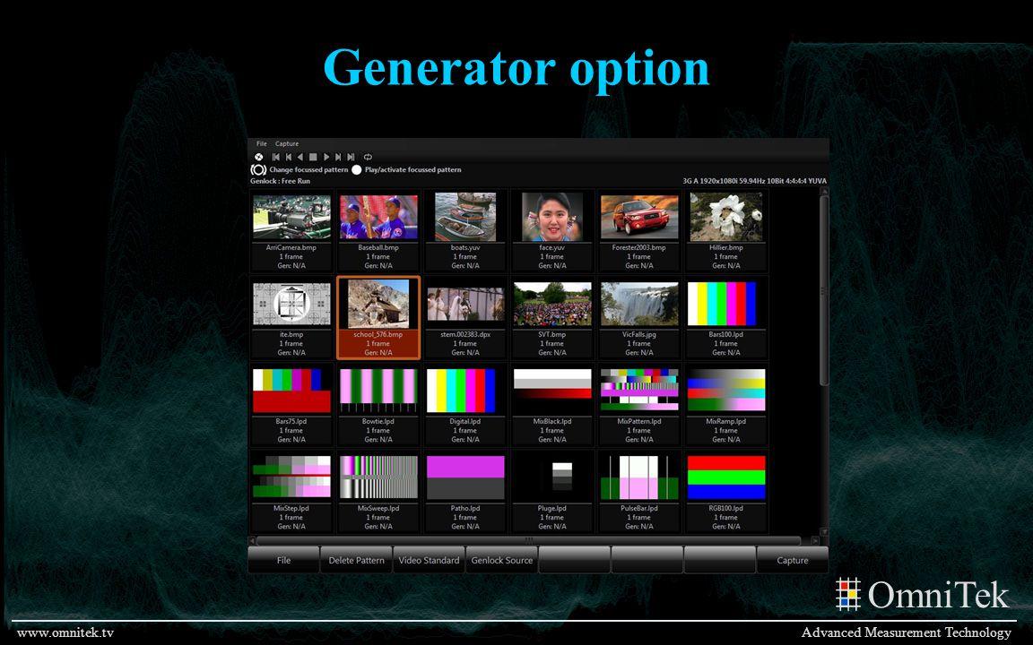 Generator option