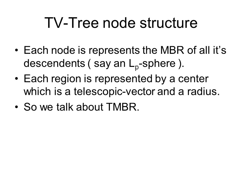TV-Tree node structure