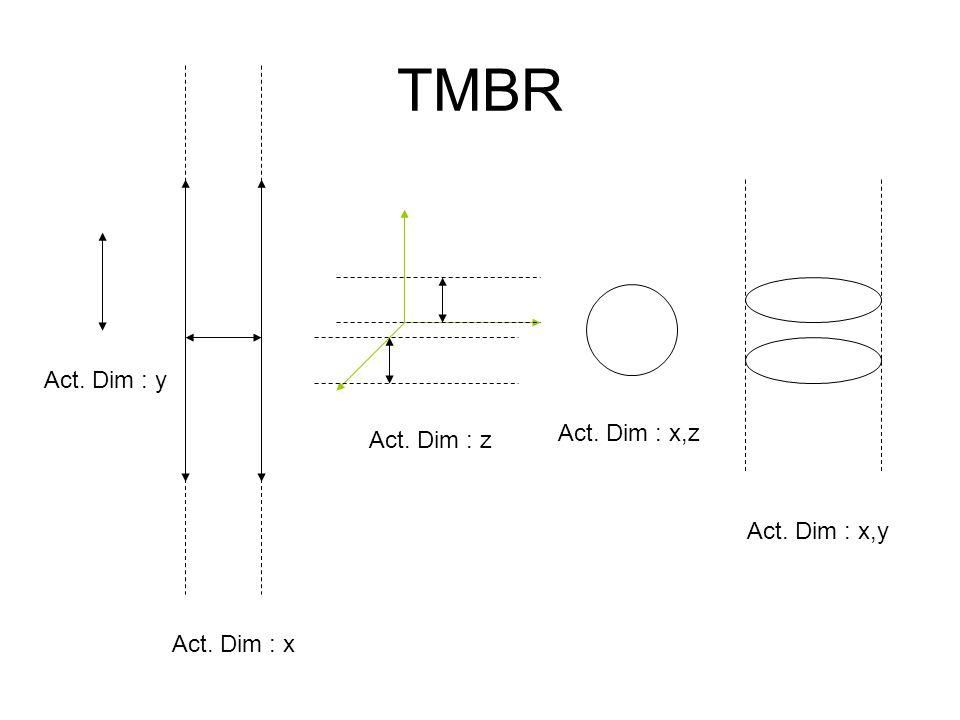 TMBR Act. Dim : y Act. Dim : x,z Act. Dim : z Act. Dim : x,y