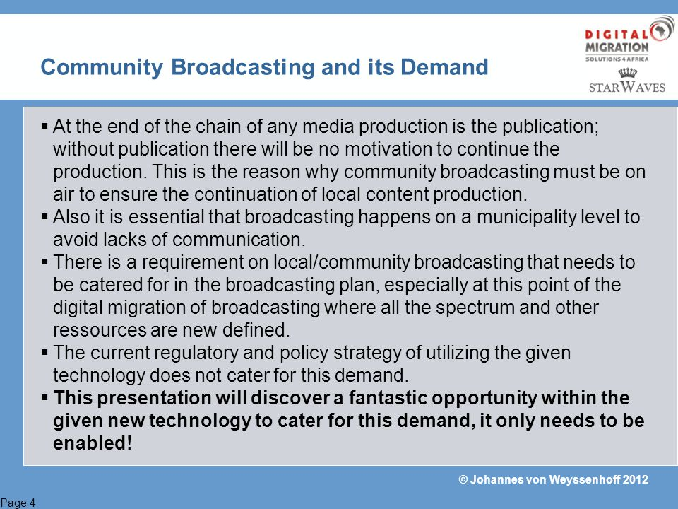 Community Broadcasting and its Demand