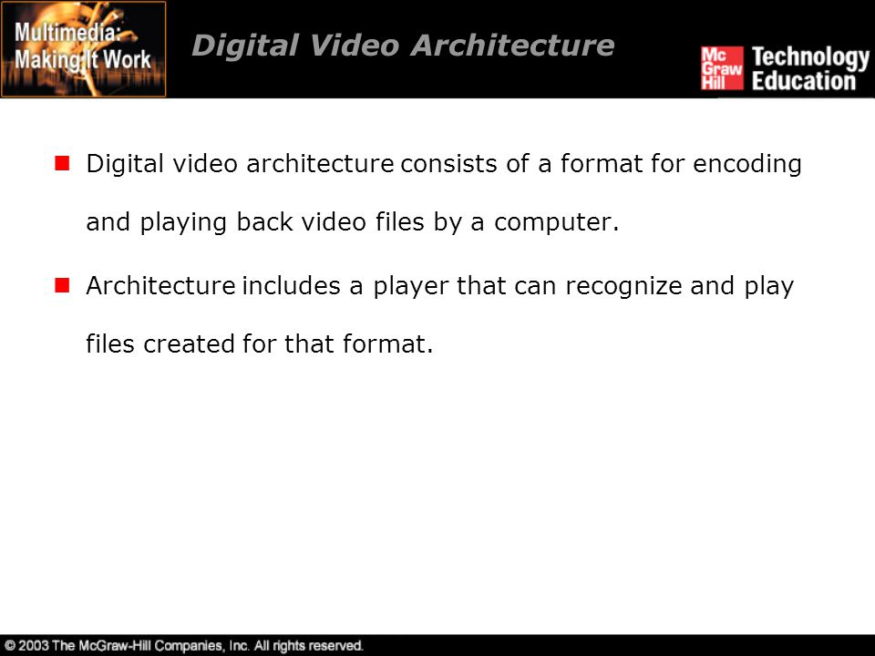 Digital Video Architecture