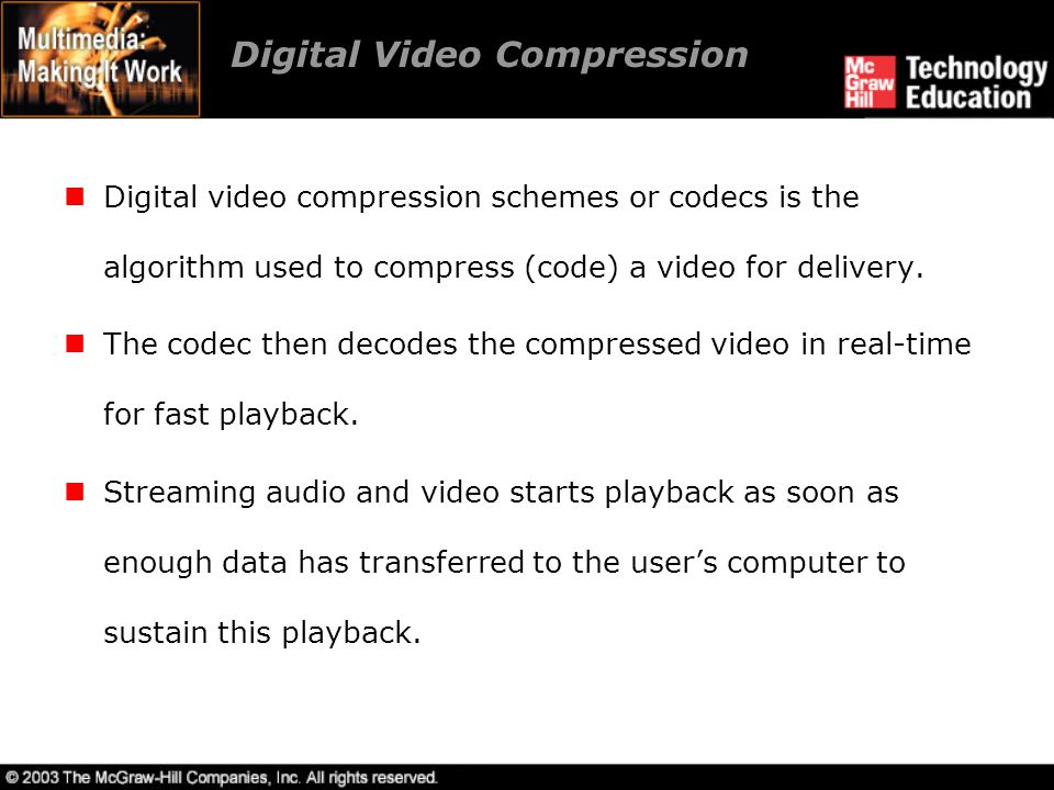 Digital Video Compression