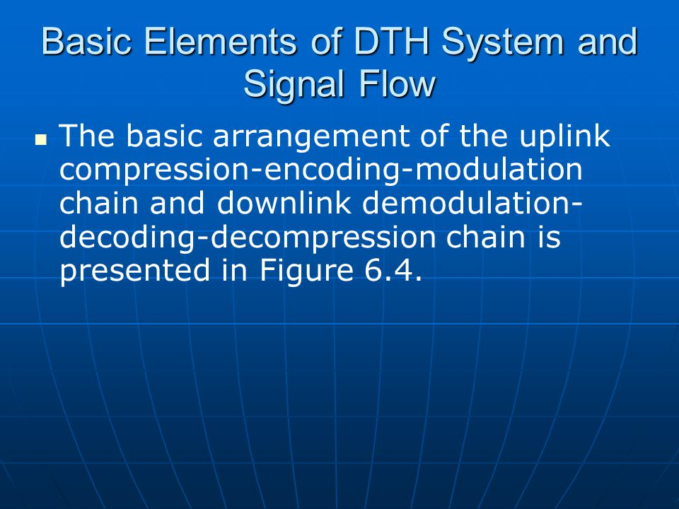 Basic Elements of DTH System and Signal Flow