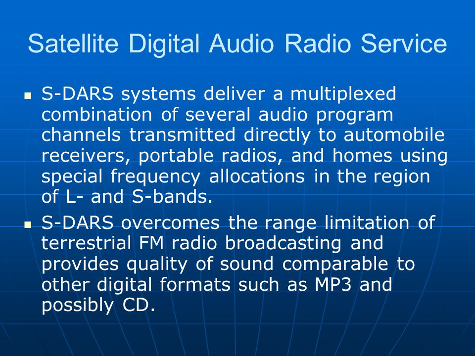 Satellite Digital Audio Radio Service