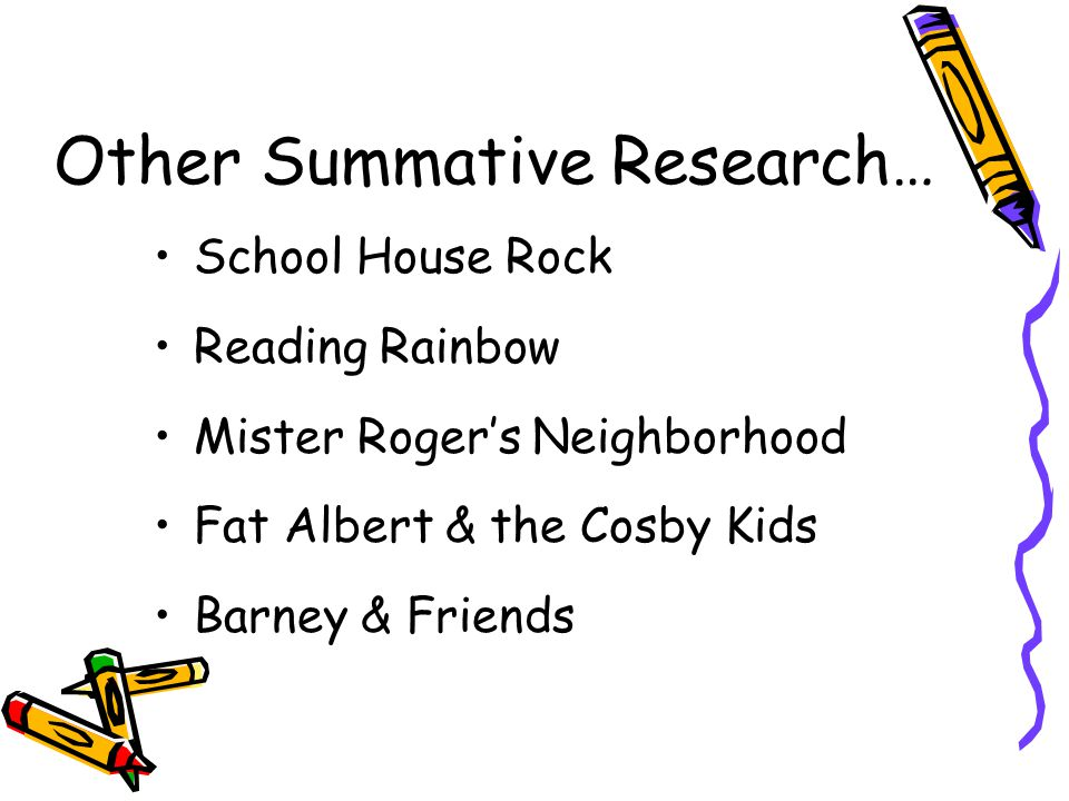 Other Summative Research…