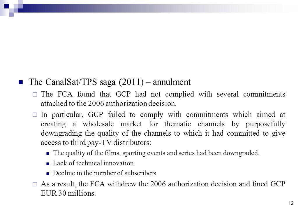 The CanalSat/TPS saga (2011) – annulment