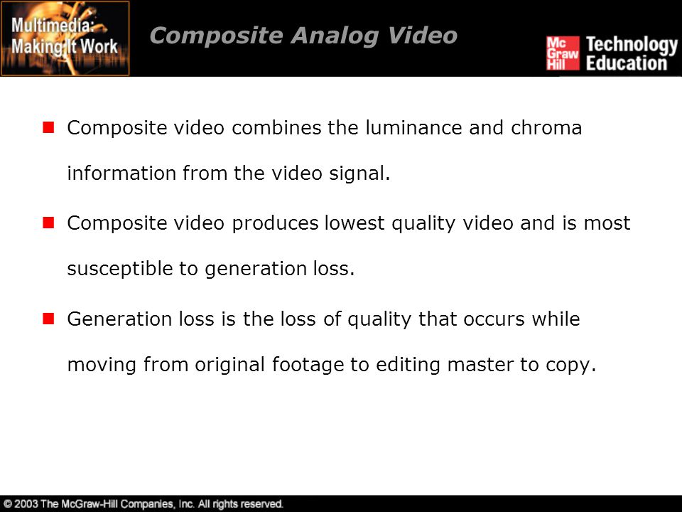 Composite Analog Video