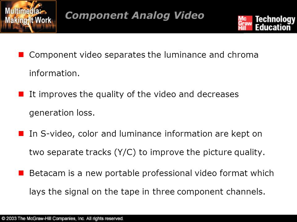 Component Analog Video