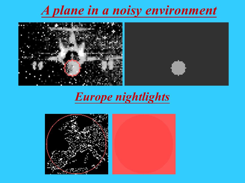 A plane in a noisy environment