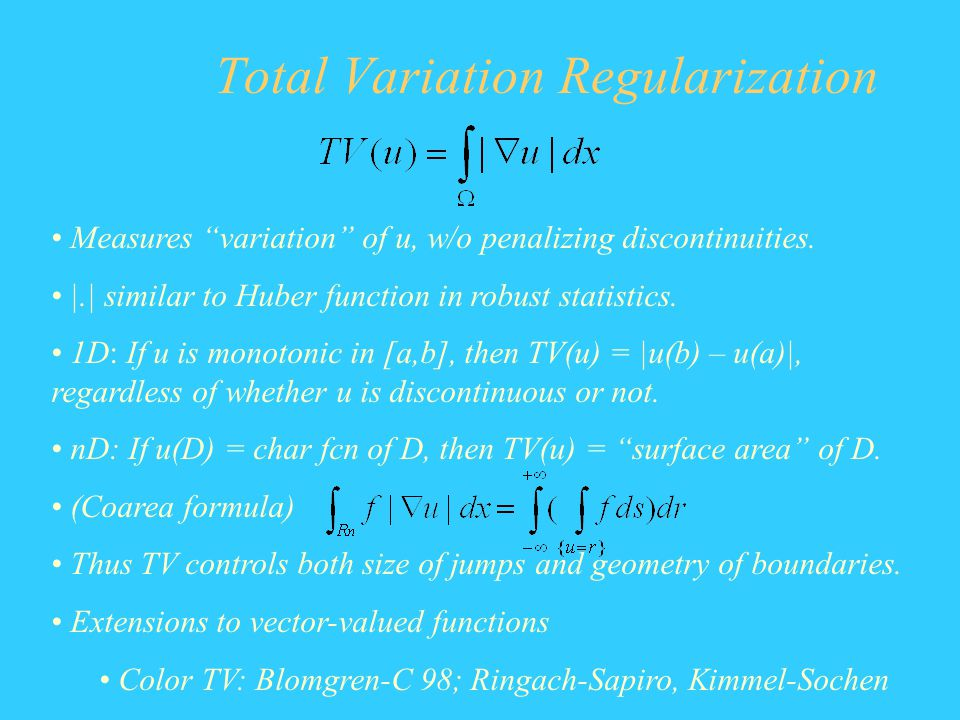 Total Variation Regularization