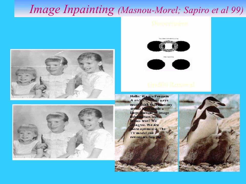 Image Inpainting (Masnou-Morel; Sapiro et al 99)