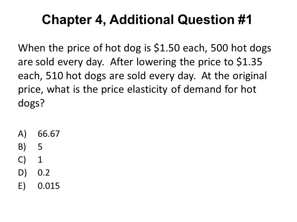 Chapter 4, Additional Question #1