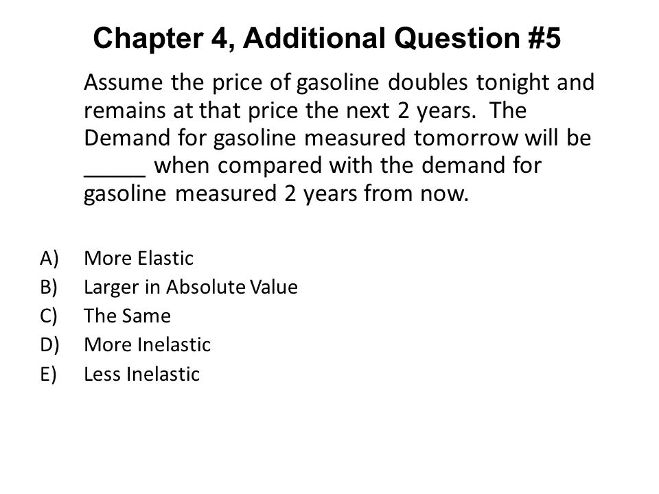 Chapter 4, Additional Question #5