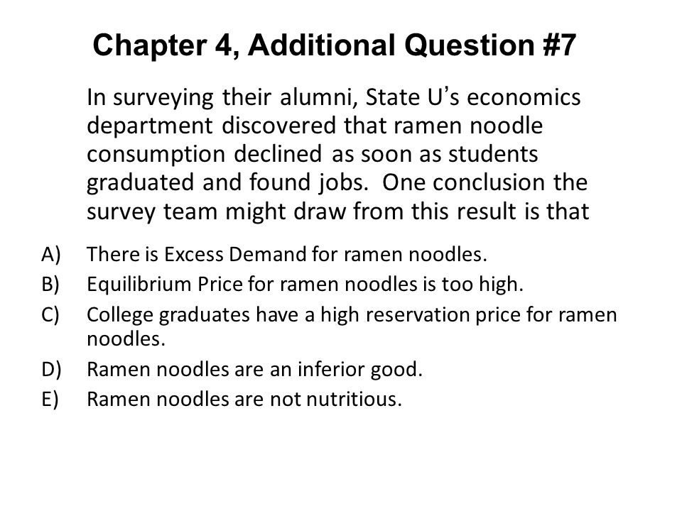 Chapter 4, Additional Question #7