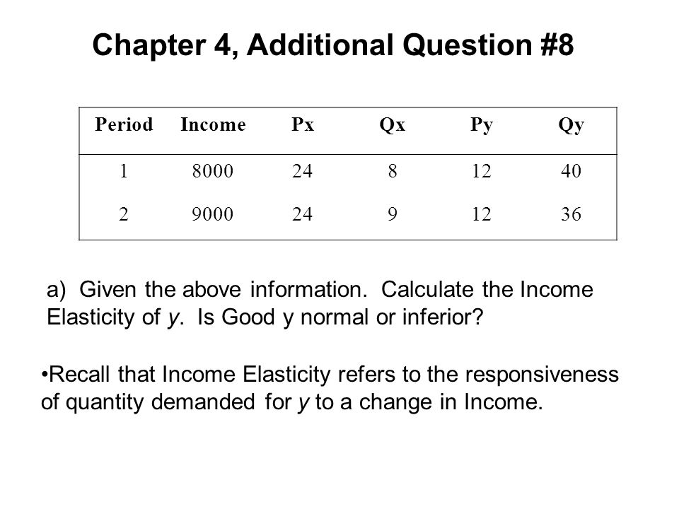 Chapter 4, Additional Question #8