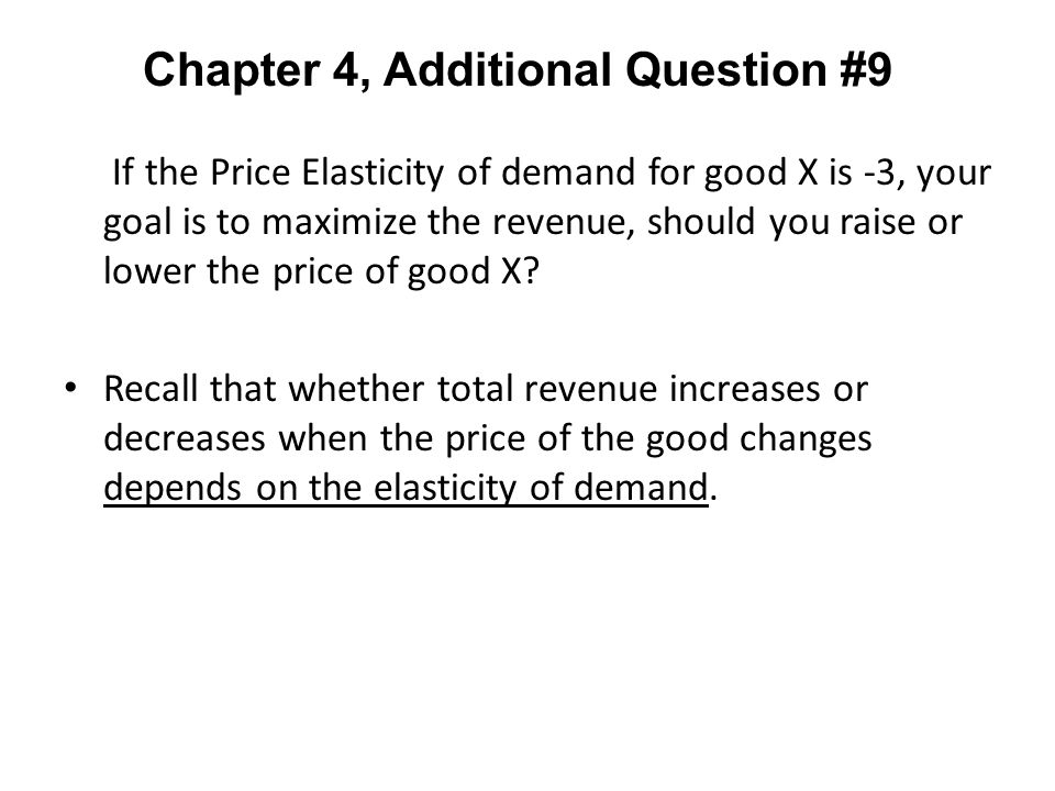 Chapter 4, Additional Question #9