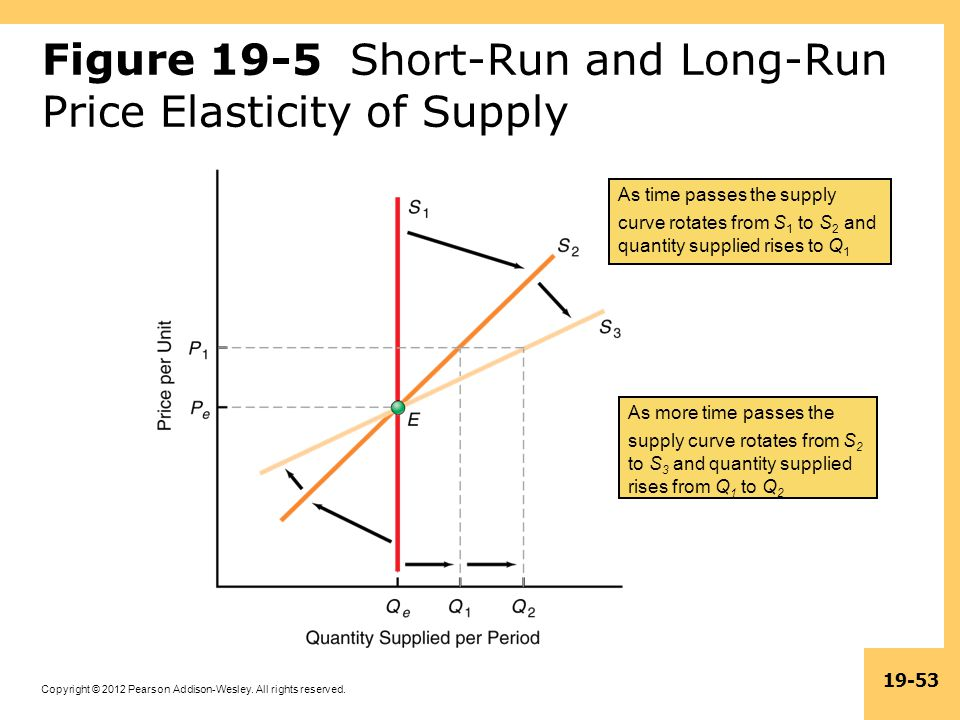 Figure 19-5 Short-Run and Long-Run Price Elasticity of Supply