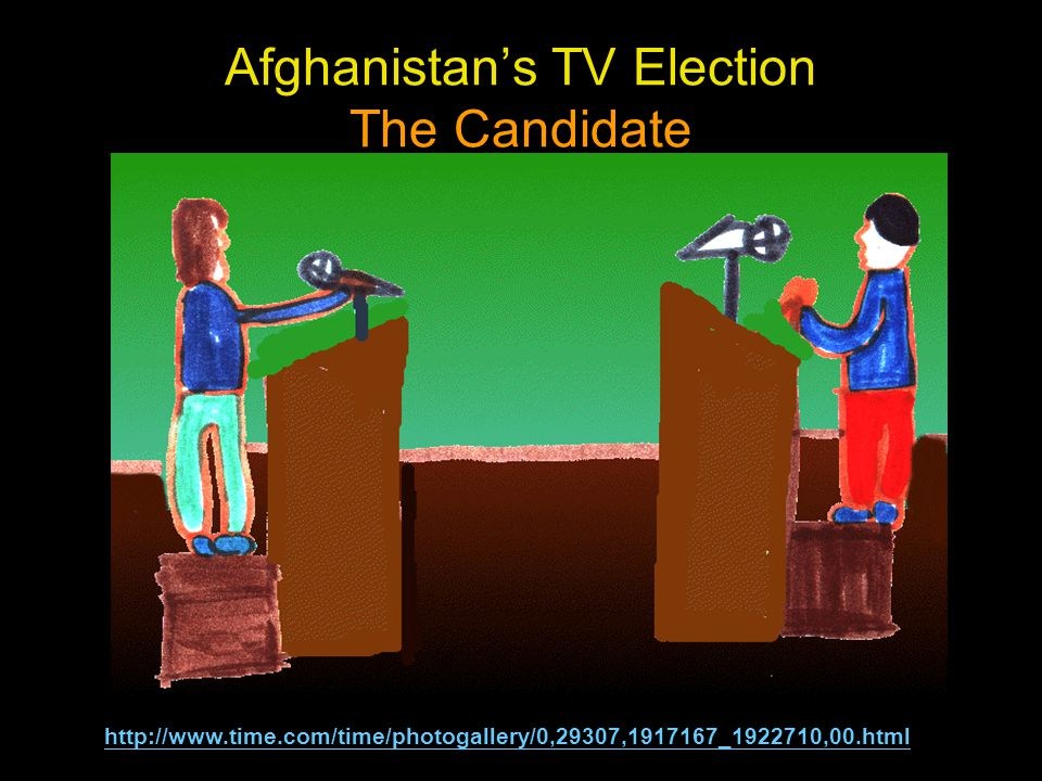 Afghanistan's TV Election The Candidate