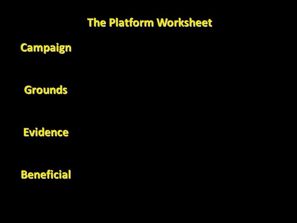 The Platform Worksheet