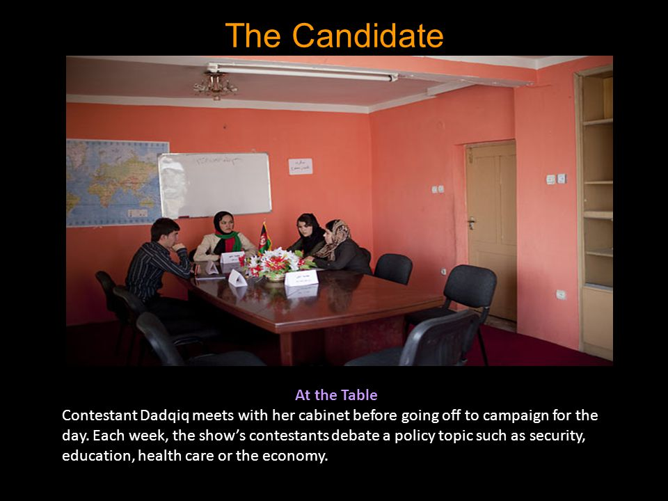 The Candidate At the Table