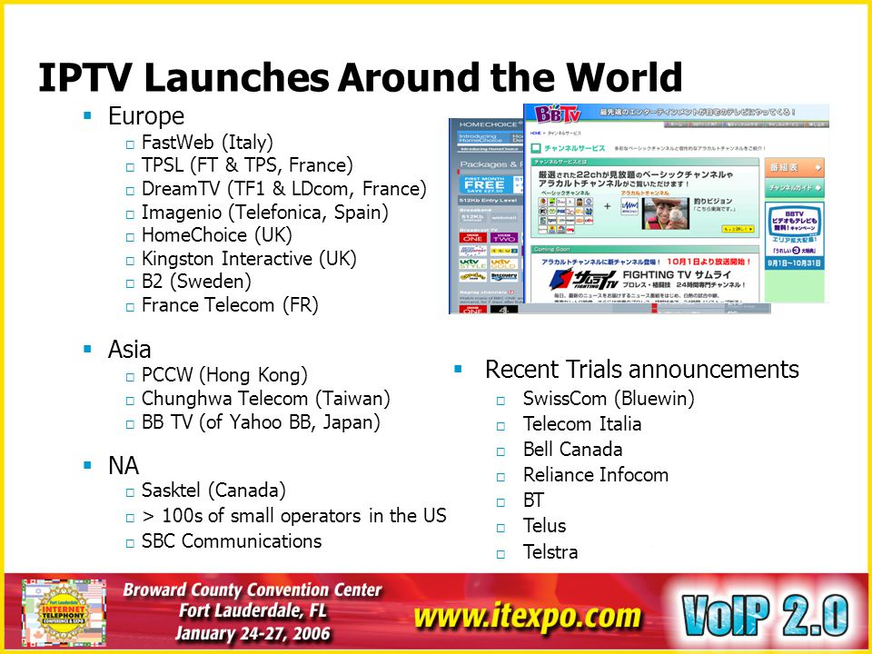 IPTV Launches Around the World