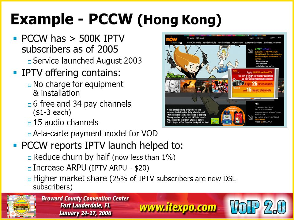 Example - PCCW (Hong Kong)