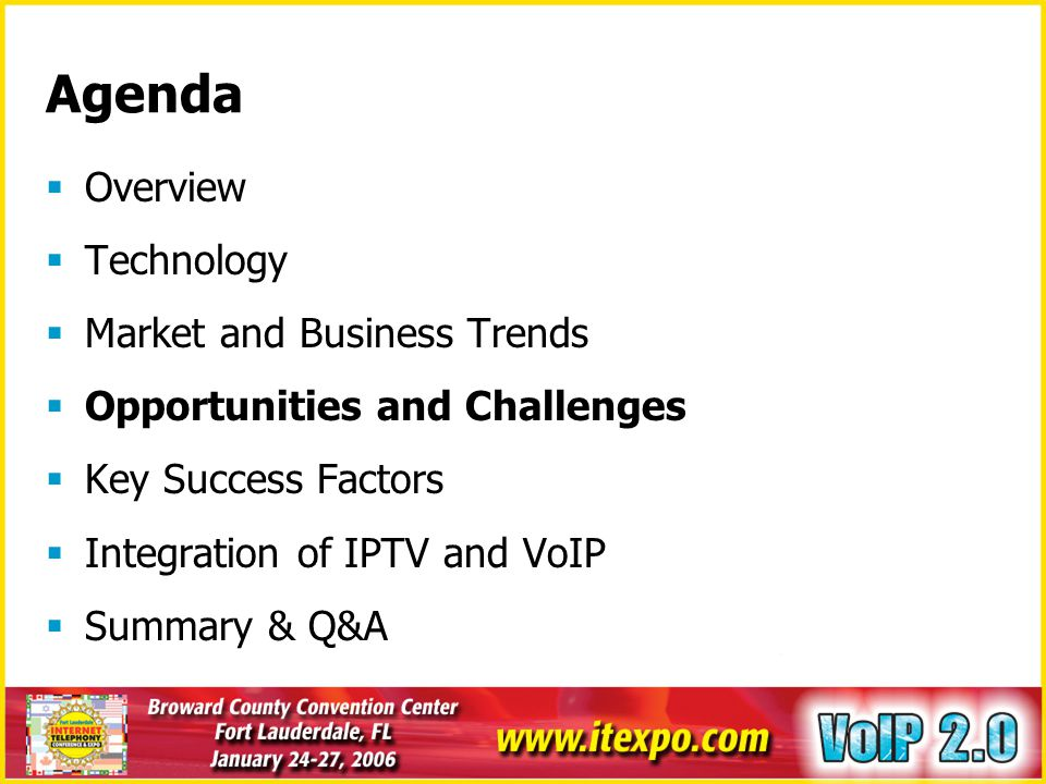 Agenda Overview Technology Market and Business Trends