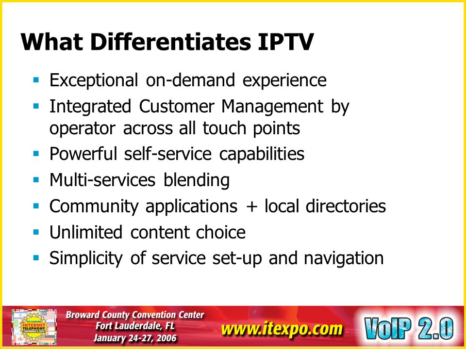 What Differentiates IPTV
