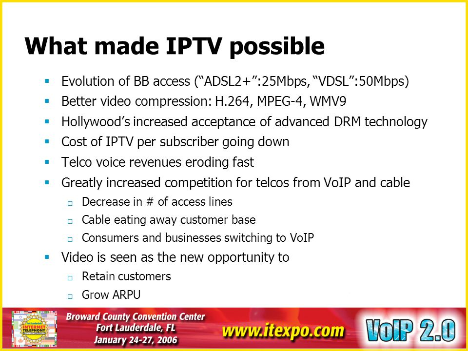 What made IPTV possible