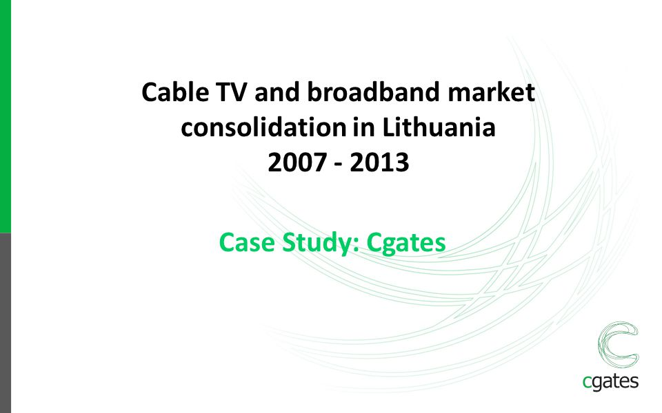 Cable TV and broadband market consolidation in Lithuania