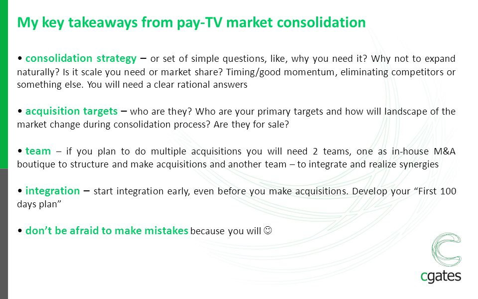 My key takeaways from pay-TV market consolidation